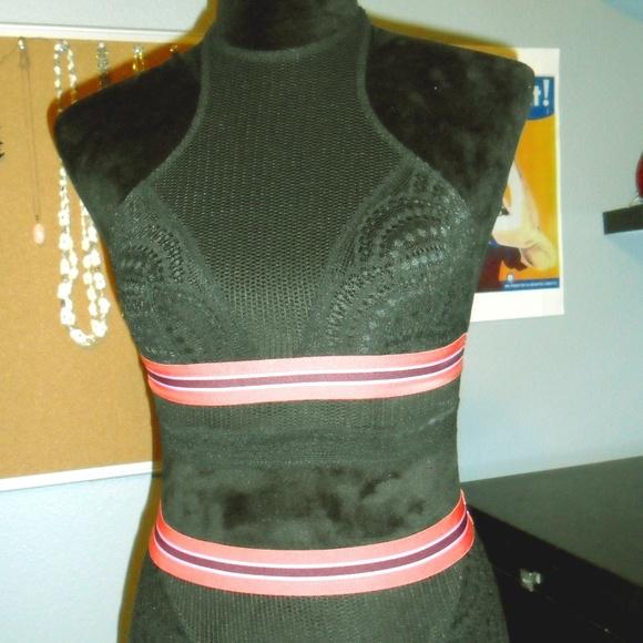 Victoria's Secret Other - Victoria Secret Lingerie Black Halter Bikini Set